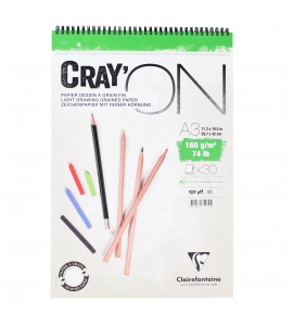 Caderno Bloco Crayon'ON A3 30 Folhas Clairefontaine