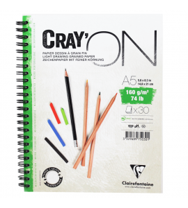 Caderno Bloco Crayon'ON A5 30 Folhas Clairefontaine
