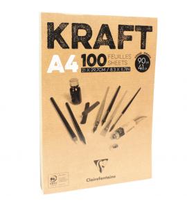 Bloco de Papel Kraft Clairefontaine A4 100 Folhas