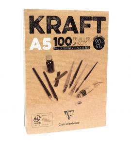Bloco de Papel Kraft Clairefontaine A5 100 Folhas