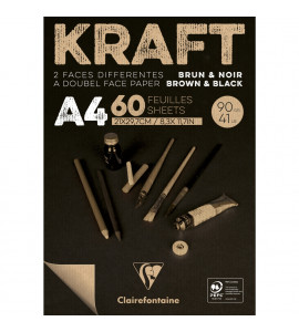 Bloco de Papel Kraft Brown & Black Clairefontaine A4