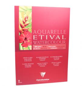 Bloco Para Aquarela Etival A2 200g Clairefontaine