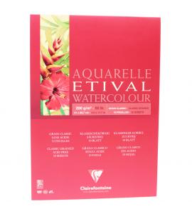 Bloco Para Aquarela Etival A4 200g Clairefontaine
