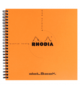 Caderno Rhodia Dot Book Papel Pontilhado 21X21cm Capa Laranja
