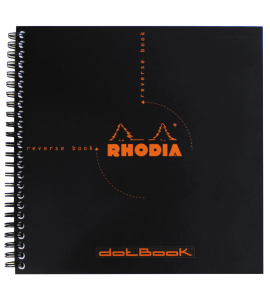 Caderno Rhodia Dot Book Papel Pontilhado 21X21cm Capa Preta