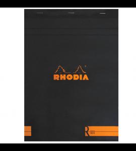 Bloco de Papel Para Desenho e Notas Rhodia A4 N°18 Capa Preta