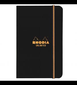 Bloco de Notas Rhodia Quadriculado Unlimited Capa Preta 9X14cm