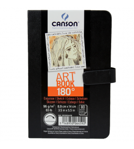 Bloco de Sketch Canson ARTBOOK 180° 08,9X14cm