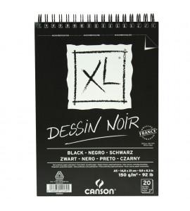 Bloco de Papel Negro Canson XL Croquis 150g/m² A5