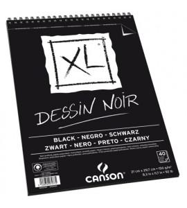 Bloco de Papel Negro Canson XL Croquis 150g/m² A4