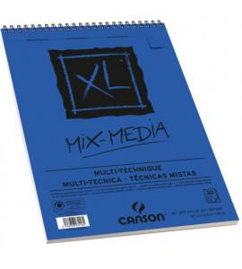 Bloco de Papel Canson XL Mix Media Multi-Técnica 300g/m² A4
