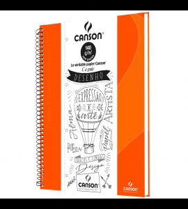 Caderno de Desenho A4 Laranja Canson 40 Folhas Universitário