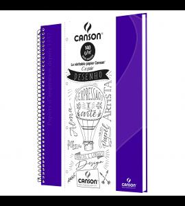 Caderno de Desenho A4 Roxo Canson 40 Folhas Universitário