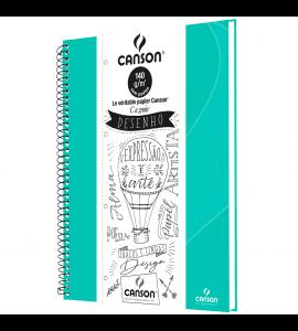 Caderno de Desenho A4 Verde Canson 40 Folhas Universitário