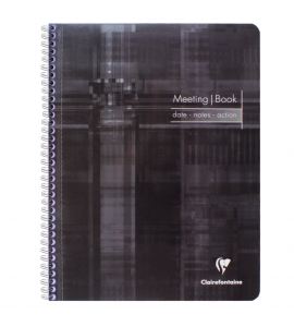 Caderno de Anotações Meeting Book Clairefontaine A4+ Preto