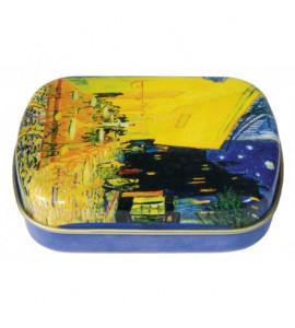 Caixa De Metal Personalizada Van Gogh Café Noturno