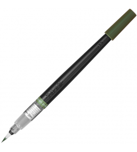 Caneta Ponta de Pincel Aquarela Color Brush Pentel Olive Green 115