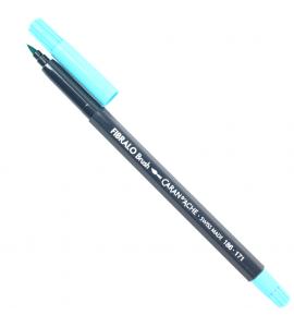 Caneta Caran d'Ache Fibralo Brush Aquarelável Azul Claro