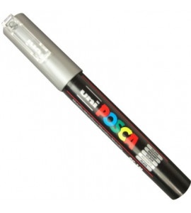 Caneta Posca Uni Ball PC-1MC Prata