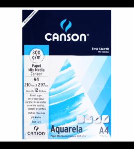Papel Para Aquarela Canson Mix Media A4 300g/m²