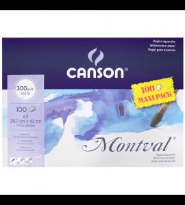 Bloco de Papel Para Aquarela Montval Max Pack Canson A3 300g/m²