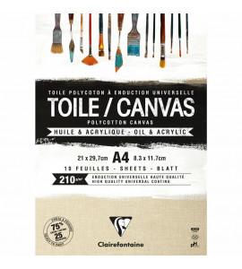 Bloco de Tela Clairefontaine A4 10 Folhas 210 g/m²