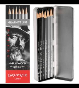 Estojo Lápis de Desenho Grafwood  Caran D'Ache 6 Graduações