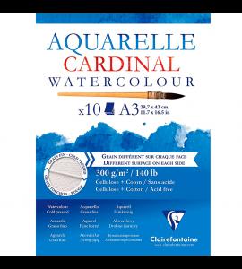 Bloco de Papel Para Aquarela Cardinal A3 300g