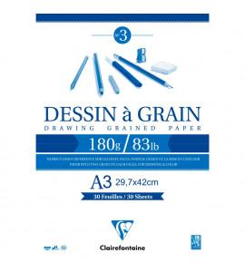 Bloco de Desenho Dessin à Grain A3 180g/m²