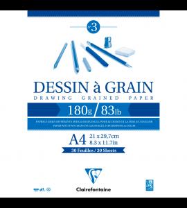 Bloco de Desenho Dessin à Grain A4 180g/m²