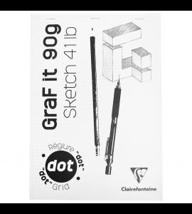 Bloco de Desenho A4 Graf It DOT 90g/m² 80 Folhas