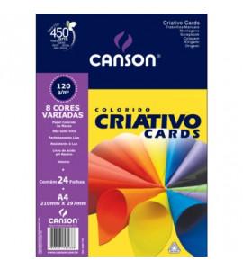 Colorido Criativo Cards 120g/m² Canson A4 Linha Estudante