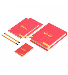 Conjunto The Essential Color Box Rhodia Poppy