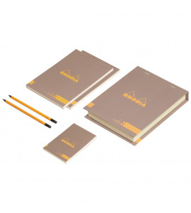 Conjunto The Essential Color Box Rhodia Taupe