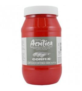 Tinta Acrílica Corfix 500ml 56 Vermelho Francês