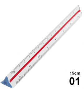 Escalímetro Triangular 15cm - 01
