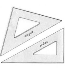 Conjunto de Esquadros Trident sem Graduação 28cm