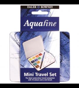Estojo Aquarela Pastilha Daler Rowney Aquafine 10 Cores + Pincel
