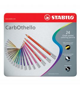 Lápis Pastel Aquarela Carbothello Stabilo 24 Cores