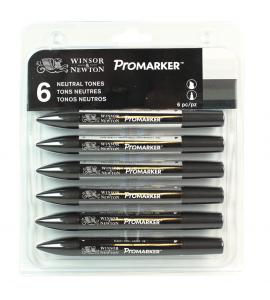 Promarker 06 Cores Tons de Cinza Winsor&Newton