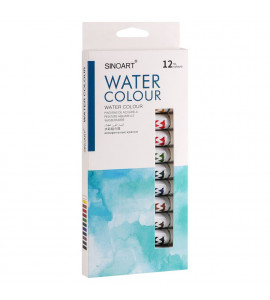 Kit Tinta Aquarela Sinoart 12 cores Tubo 12ml