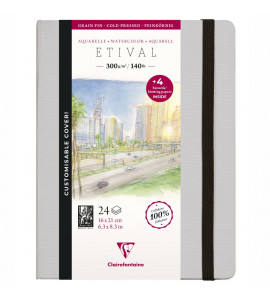 Bloco de Papel Para Aquarela Etival 16x21 Ed Customizada 300g/m²