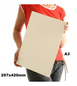 Foamboard Metier Contracole Papel Pluma Branco A3 5mm