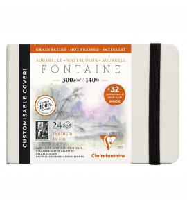 Bloco Para Aquarela Fontaine Ed Customizada 100% Algodão 10x15 Clairefontaine