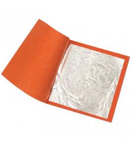 Folha de Prata Imitação 14X14cm 05000 Folhas
