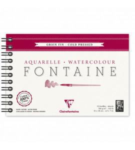 Bloco Papel Para Aquarela Fontaine Cold Pressed 12x18cm 300g/m²