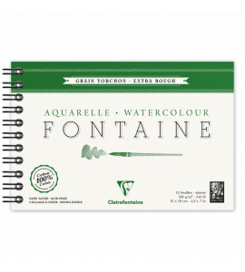 Bloco Papel Para Aquarela Fontaine Torchon 12x18cm 300g/m²