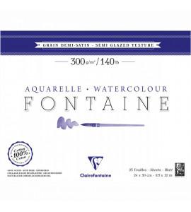 Bloco Papel Para Aquarela Fontaine Semi Satinado 24x30cm 300g/m²