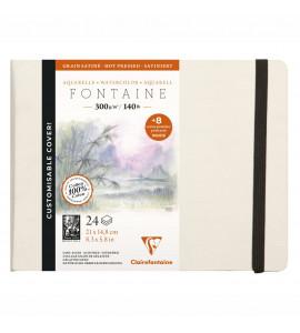 Bloco Para Aquarela Fontaine Ed Customizada 100% Algodão 21X14,8 Clairefontaine