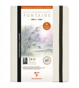 Bloco Para Aquarela Fontaine Ed Customizada 100% Algodão 16X21 Clairefontaine